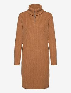 OBJRACHEL L/S KNIT DRESS NOOS - stickade klänningar - chipmunk