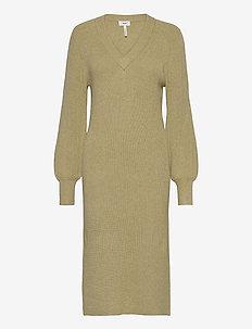 OBJVIOLETTE L/S KNIT DRESS - alledaagse jurken - khaki