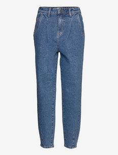 OBJROXANE HW DENIM ANKLE JEANS REP - mom jeans - light blue denim