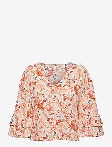 OBJOBDULIA 3/4 TOP - blouses met lange mouwen - sandshell