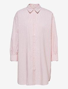OBJMAHIN 7/8 SHIRT - pitkähihaiset paidat - bright white