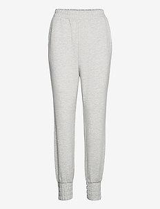OBJMEZA HW SWEAT  PANTS - sweatpants - light grey melange
