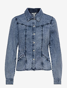 OBJAYA DENIM SHIRT 114 - denim jackets - light blue denim