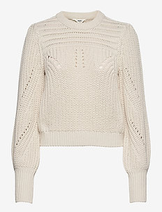 OBJTRISH L/S KNIT PULLOVER 114 - jumpers - sandshell