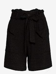 OBJHADY SHORTS - paper bag shorts - black