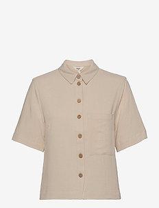 OBJHADY 2/4 TOP - overhemden met korte mouwen - sandshell