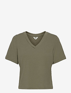OBJJADE S/S TOP 115 - t-shirt & tops - deep lichen green