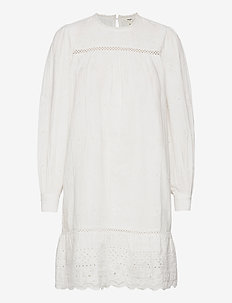OBJYASNA L/S SHORT DRESS 115 .C - summer dresses - bright white