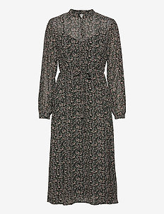 OBJASTA MILA L/S DRESS A LMT - alledaagse jurken - black