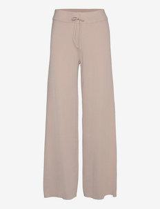 OBJDEVOE KNIT PANTS 116 - bukser med brede ben - silver gray