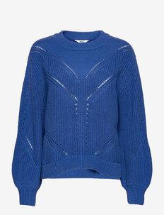 OBJHALSEY KNIT PULLOVER 116 - neulepuserot - mazarine blue