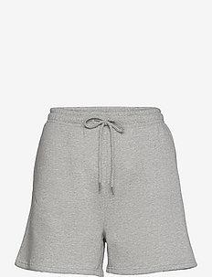 OBJNINY HW SWEAT SHORTS A FAIR - casual shortsit - light grey melange