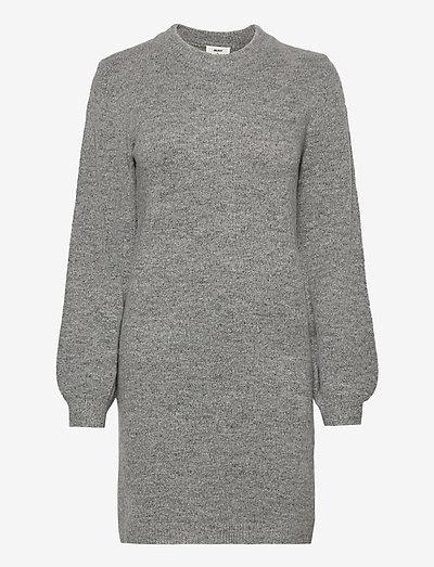 OBJEVE NONSIA L/S KNIT DRESS - neulemekot - light grey melange