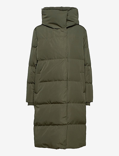 OBJLOUISE LONG DOWN JACKET - toppatakit - forest night