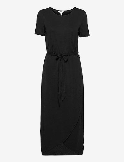 OBJANNIE NADIA S/S DRESS - summer dresses - black