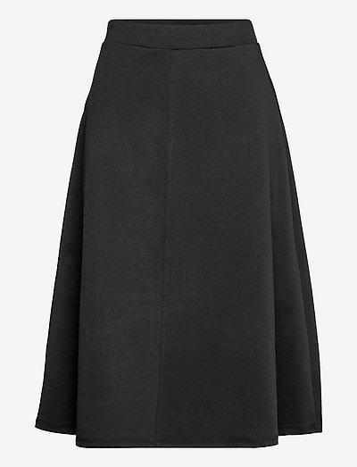 OBJSAVA MW SKIRT - midi skirts - black