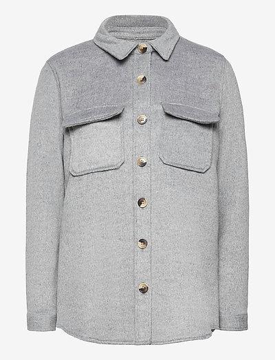 OBJVERA OWEN L/S JACKET - wool jackets - medium grey melange