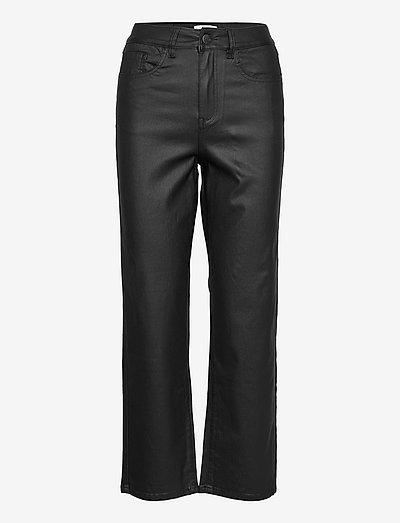 OBJMOJI BELLE COATED JEANS - straight jeans - black