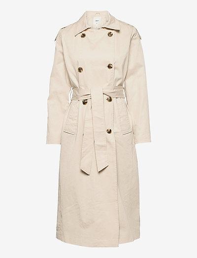 OBJCLARA TRENCH COAT - trench coats - sandshell