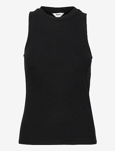 OBJJAMIE S/L TANK TOP - t-shirt & tops - black