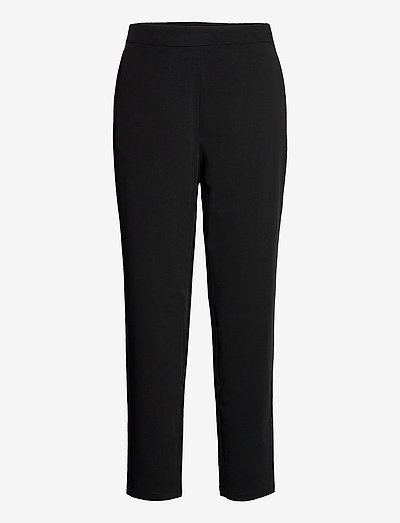 OBJCECILIE NEW MW 7/8 PANTS - straight leg trousers - black