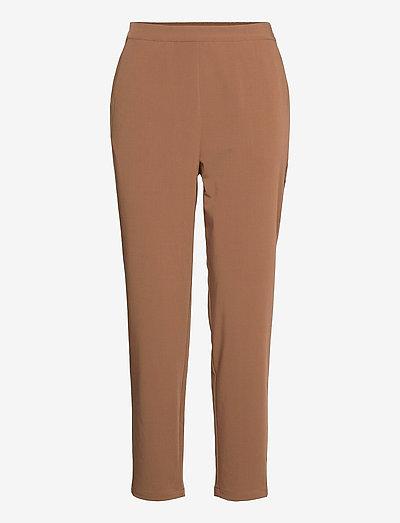 OBJCECILIE NEW MW 7/8 PANTS - straight leg trousers - partridge
