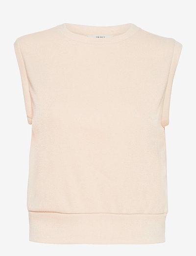 OBJEDIL WAISTCOAT - knitted vests - sandshell