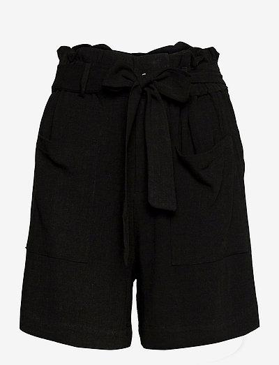 OBJHADY SHORTS - paper bag shorts - black