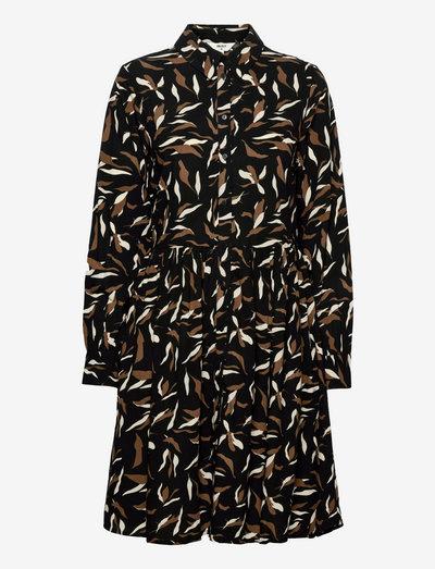 OBJLORENA L/S DRESS - kesämekot - black