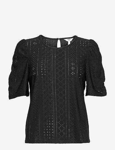 OBJRITTA SS TOP PB10 .C - short-sleeved blouses - black