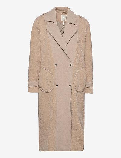 OBJLOGAN LONG COAT 116 - teddy sweaters - silver gray