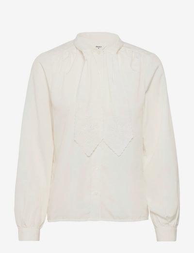 OBJNAOMI L/S TOP - long-sleeved shirts - cloud dancer