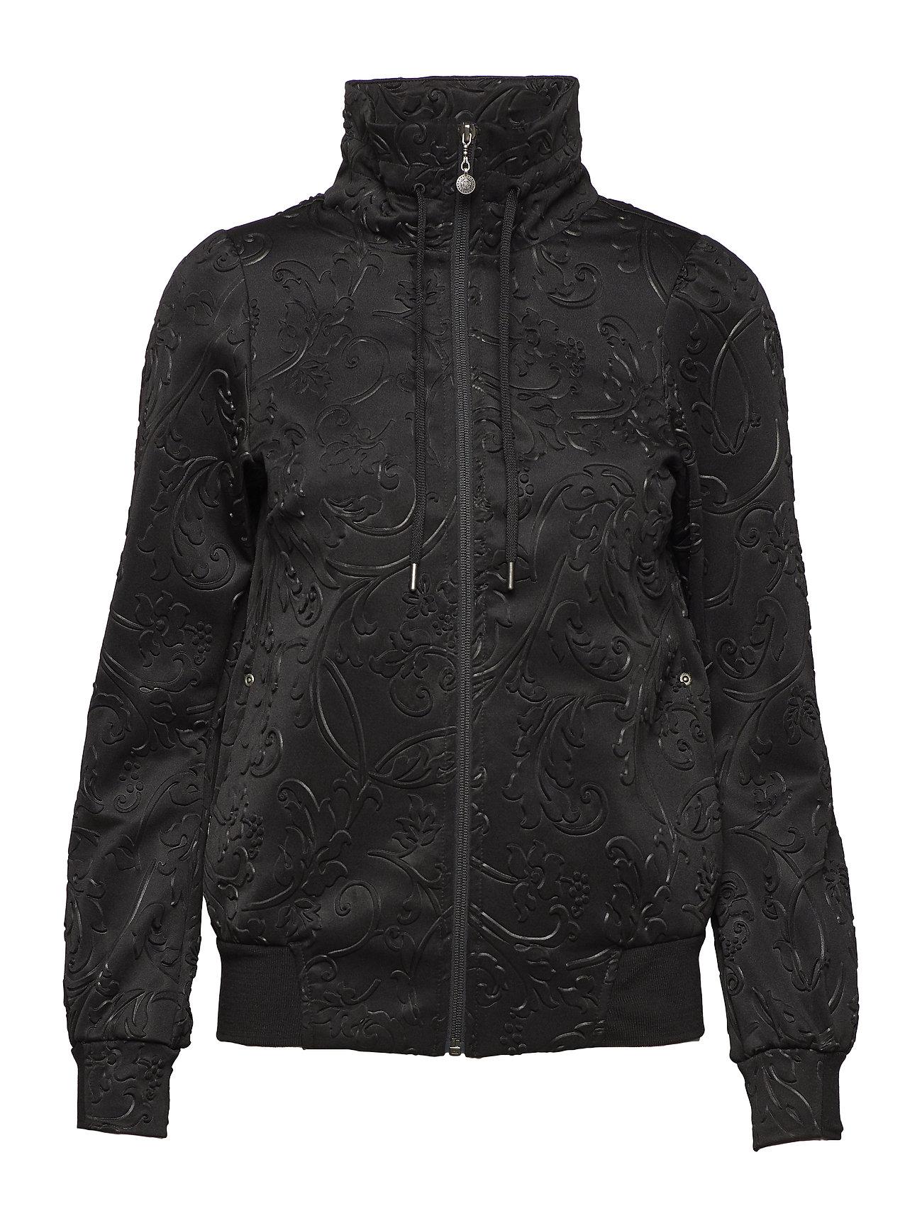 ODD MOLLY ACTIVE WEAR asphalt flower jacket