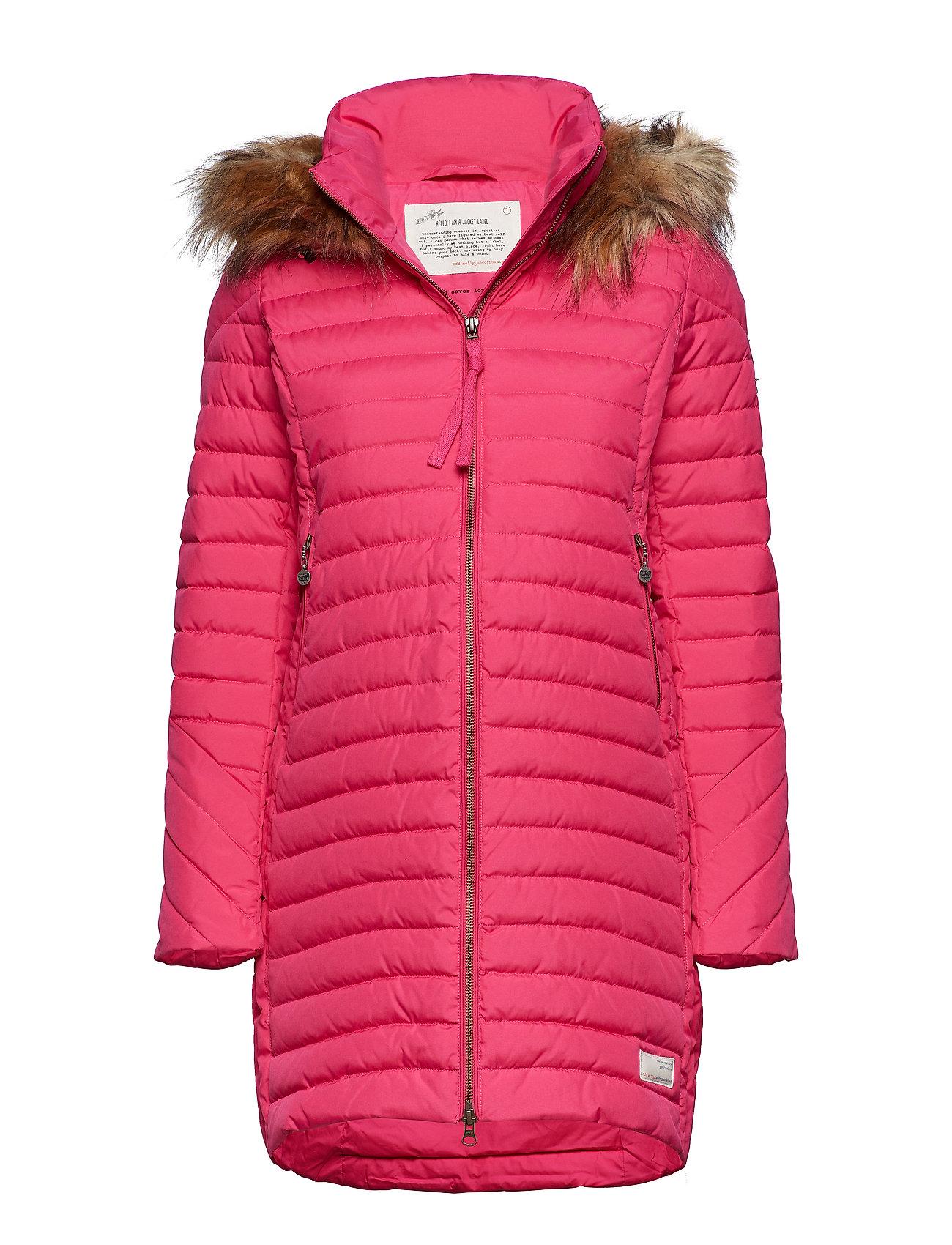 ODD MOLLY ACTIVE WEAR earth saver long jacket - HOT PINK
