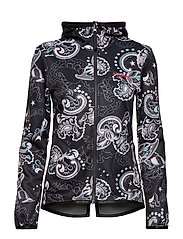 storm mid layer jacket - MULTI BLACK