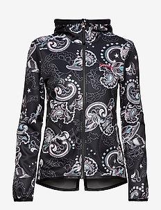 storm mid layer jacket - MULTI BLACK