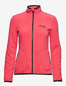 tougher mid layer jacket - RASPBERRY