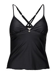 redondo tankini top - BLACK