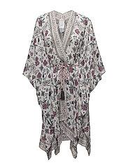 sunbath kimono - LIGHT CHALK