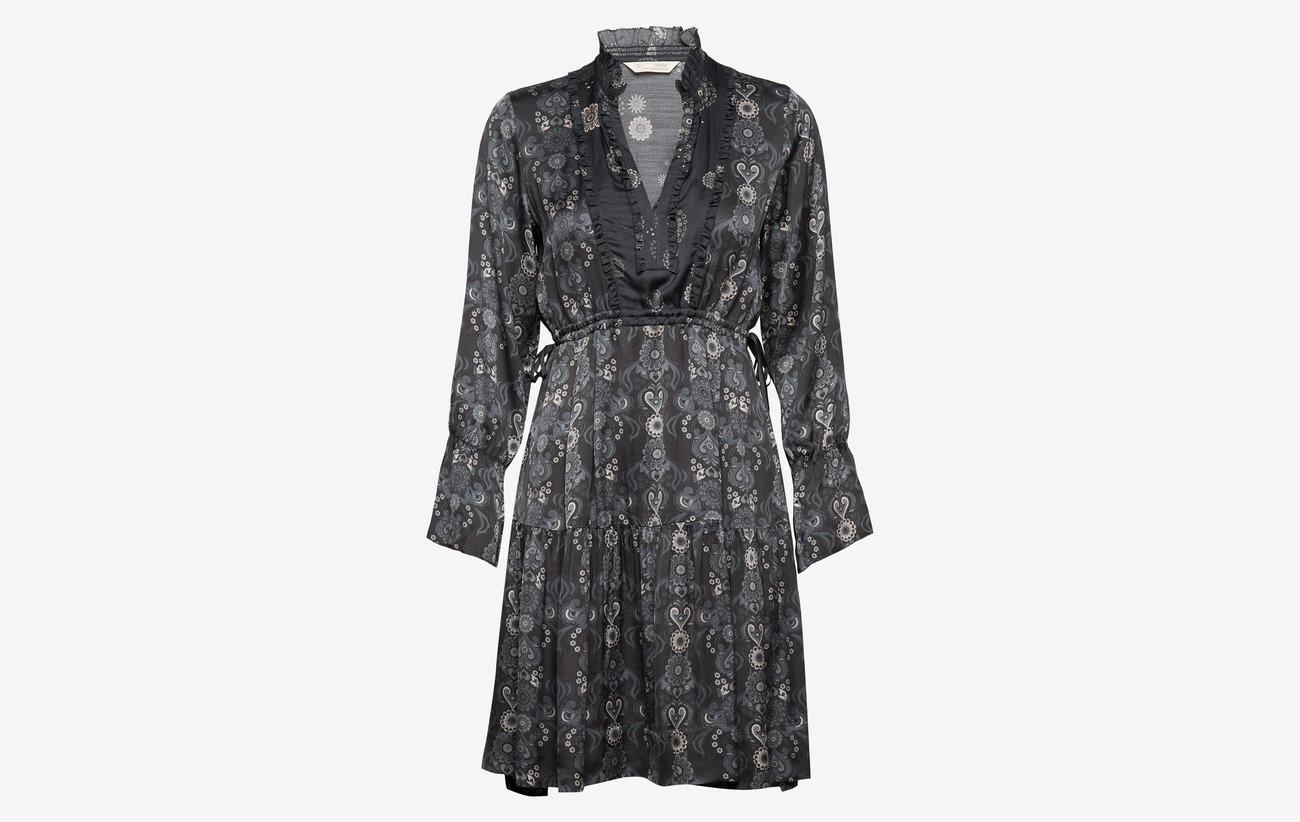 odd molly - brilliant & brave short dress - kurze kleider - asphalt