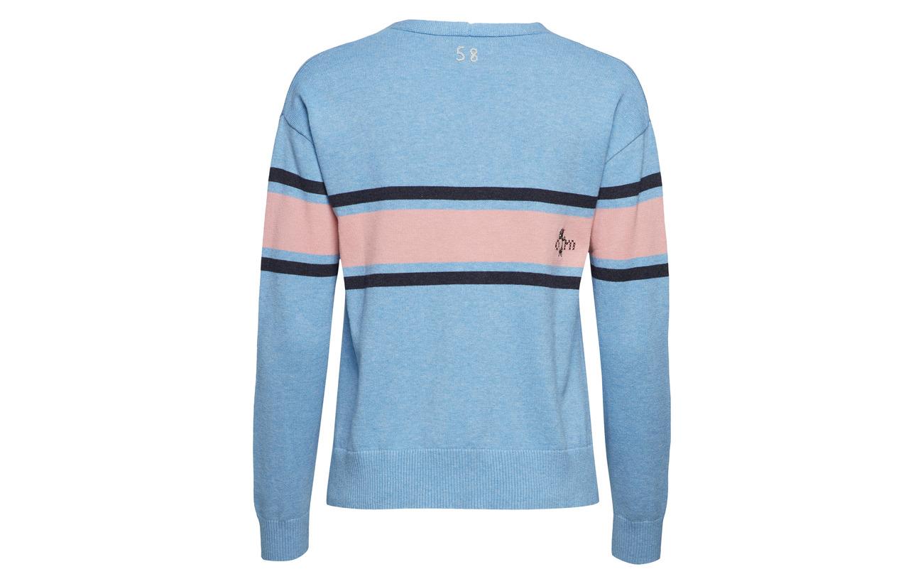 Molly 100 Odd neck Sweater V Grey Borderlands Coton Melange 7xzpqx4