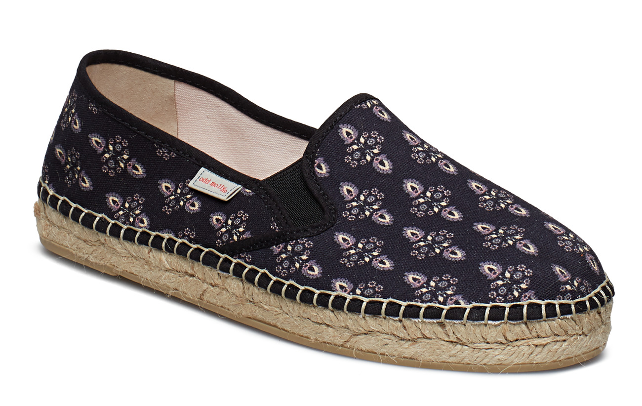 ODD MOLLY vibrant walker espadrillo - ALMOST BLACK