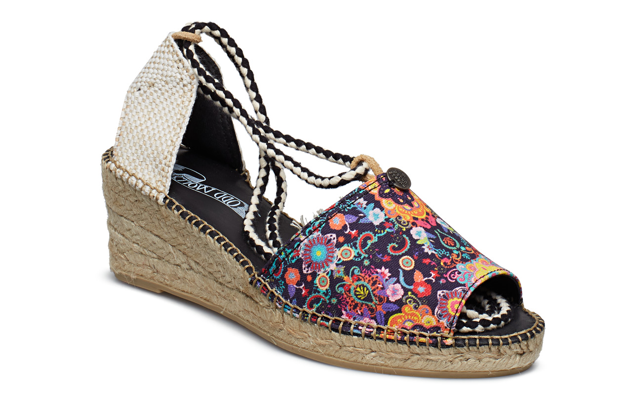 ODD MOLLY vivid garden high espadrillo - FRENCH NAVY