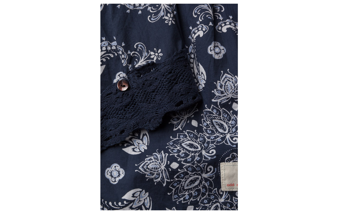 100 Odd Coton Medley s Molly L Blue Dark Blouse w0wpFq