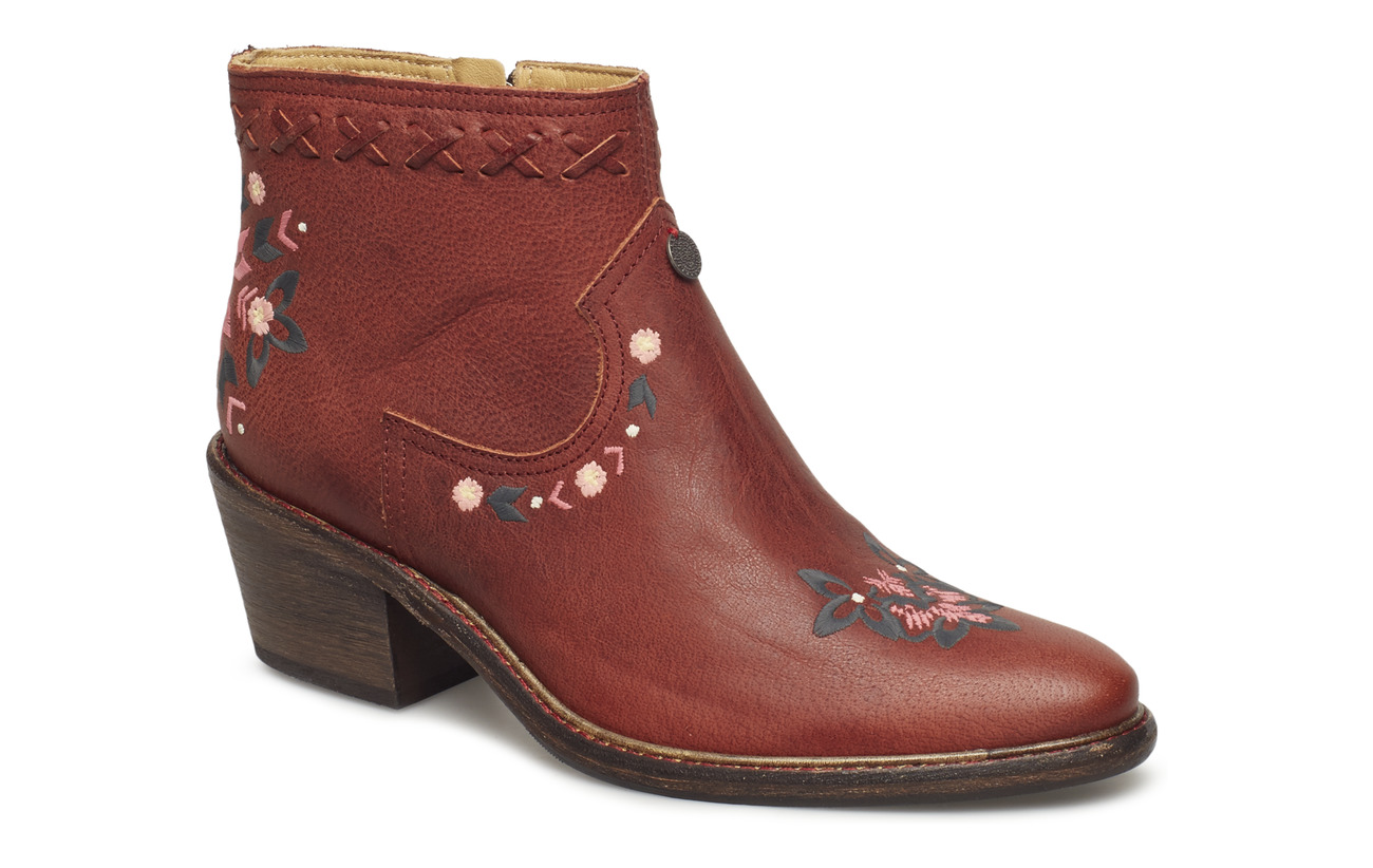 ODD MOLLY drop dead dazzling low boot - RED BROWN