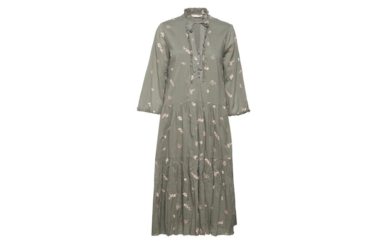 100 Coton Odd Heartbeat Molly Dress Green Cargo Tn0qX0Zw
