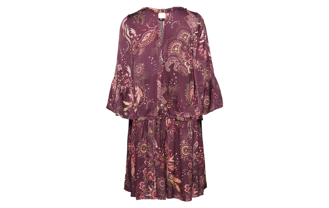 Spirit Dress Burgundy Viscose Molly 100 Odd vPaq6Sww