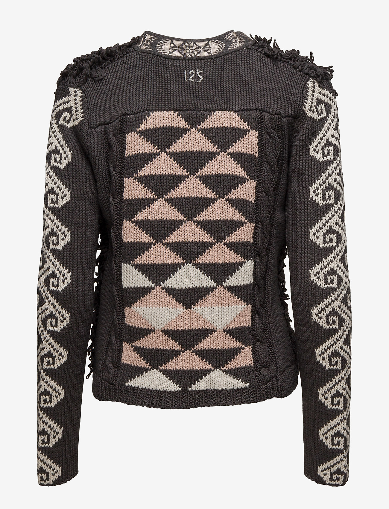 ODD MOLLY gaucho cardigan - Knitwear ASPHALT
