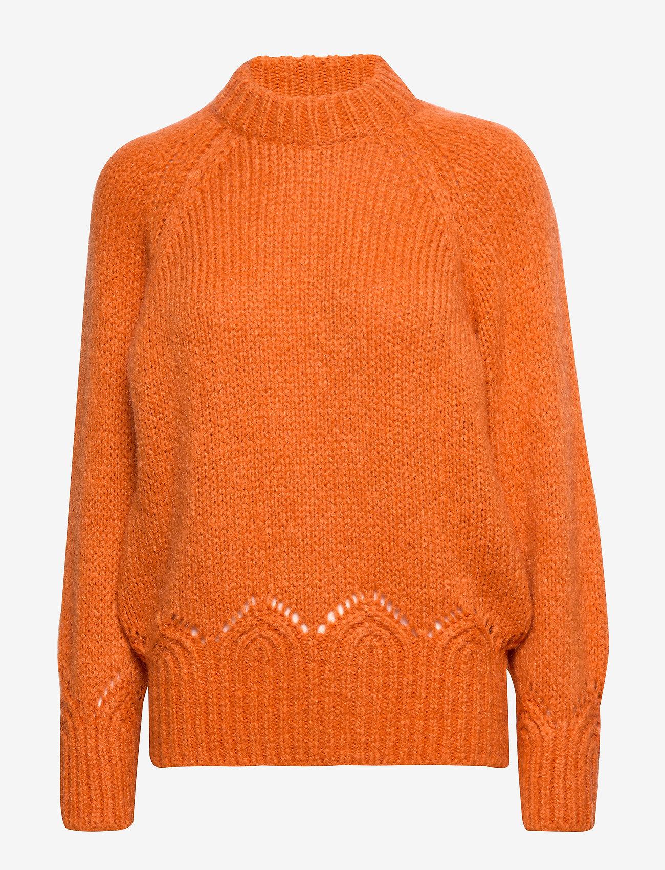 ODD MOLLY Novelty Sweater - Dzianina SUNSET ORANGE - Kobiety Odzież.