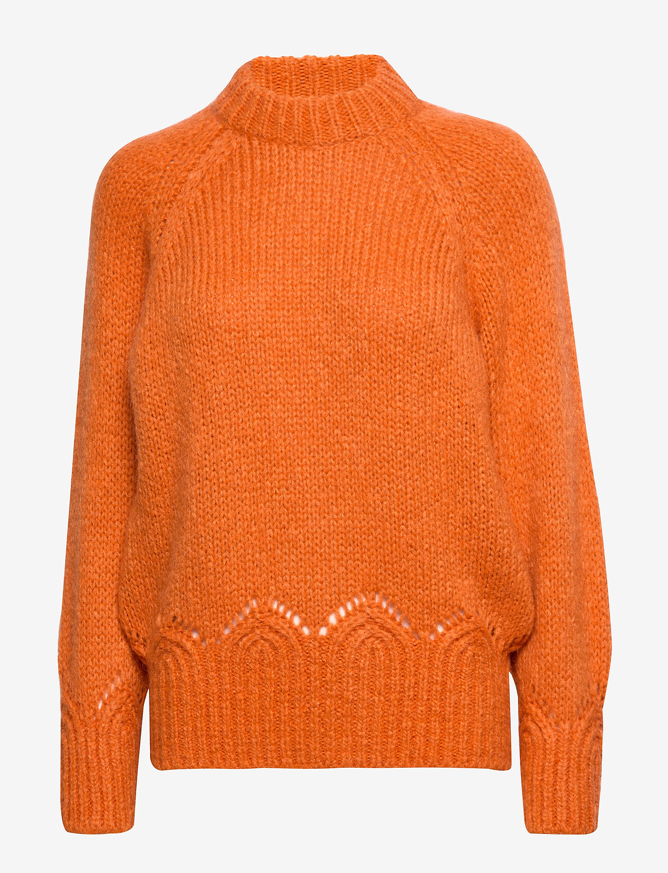 ODD MOLLY - Novelty Sweater - turtlenecks - sunset orange - 1